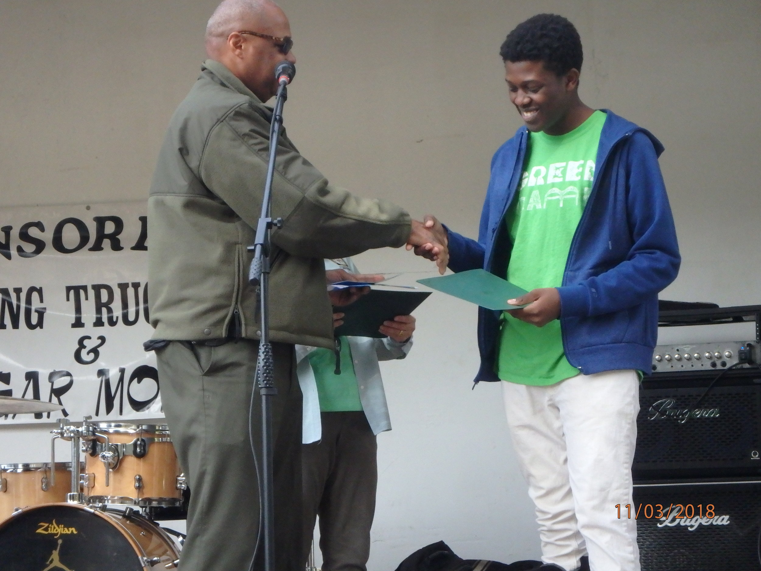 2018 GreenFest- Green Camper Gabriel honored