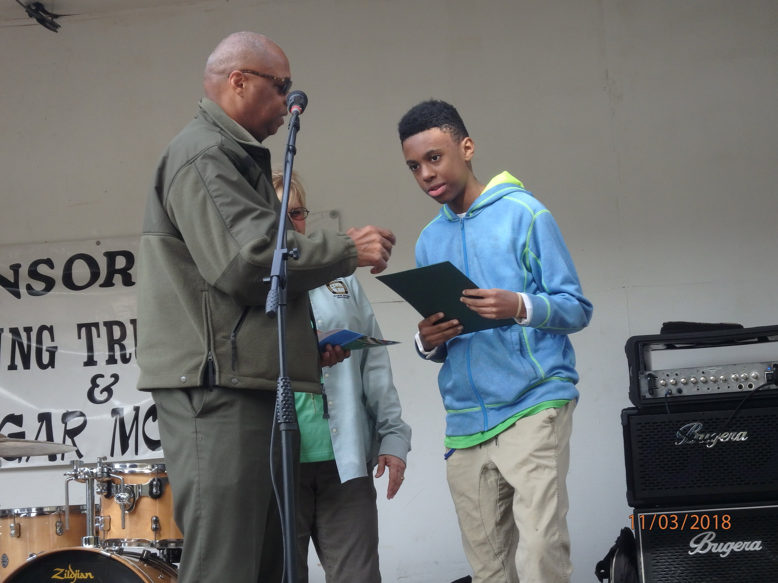 2018 GreenFest- Green Camper Micheal honored
