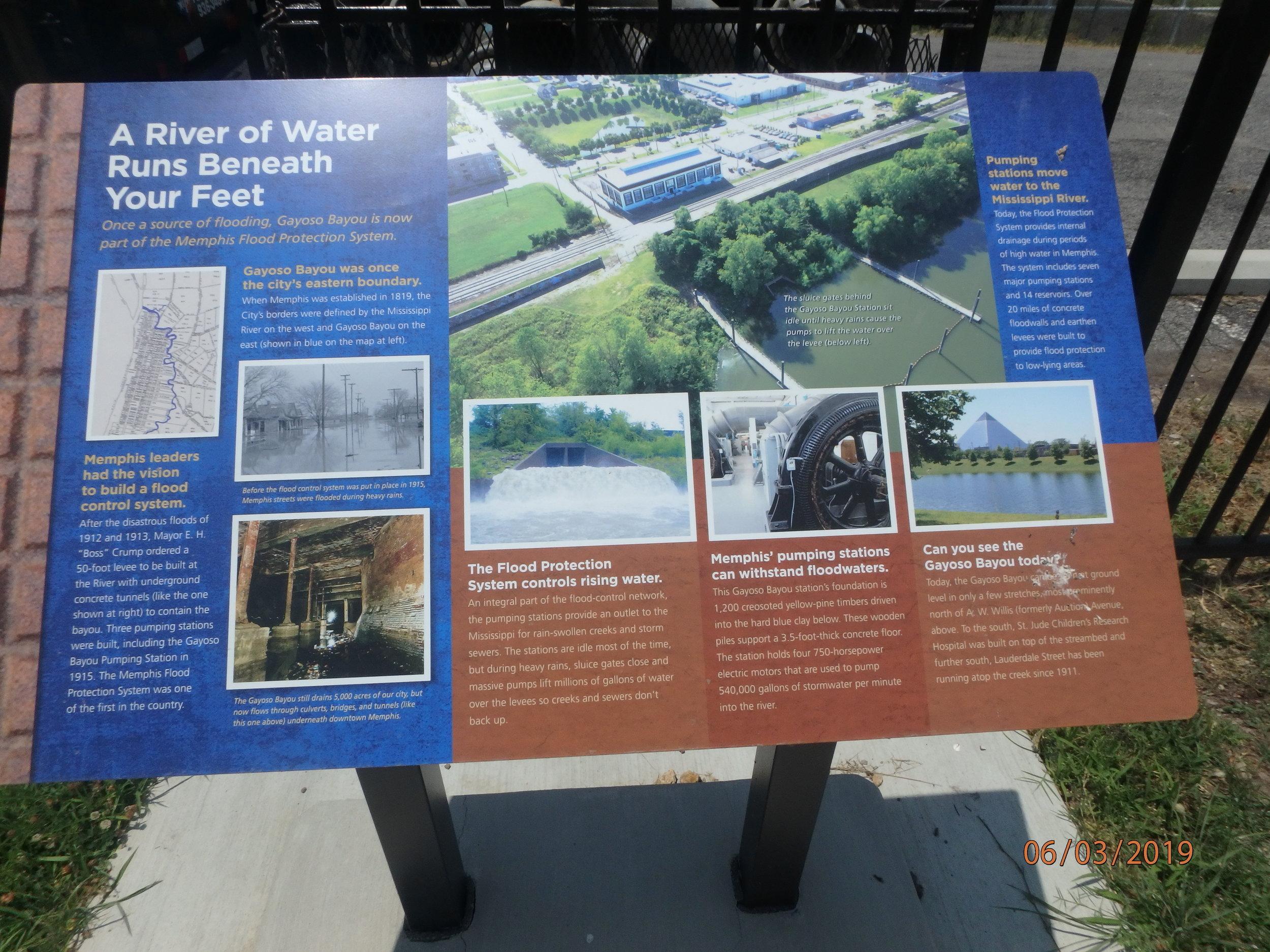 Day 1: Gayoso Bayou, Memphis and MS4 history