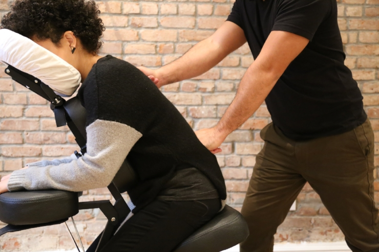 Elevate NYC Corporate Chair Massage