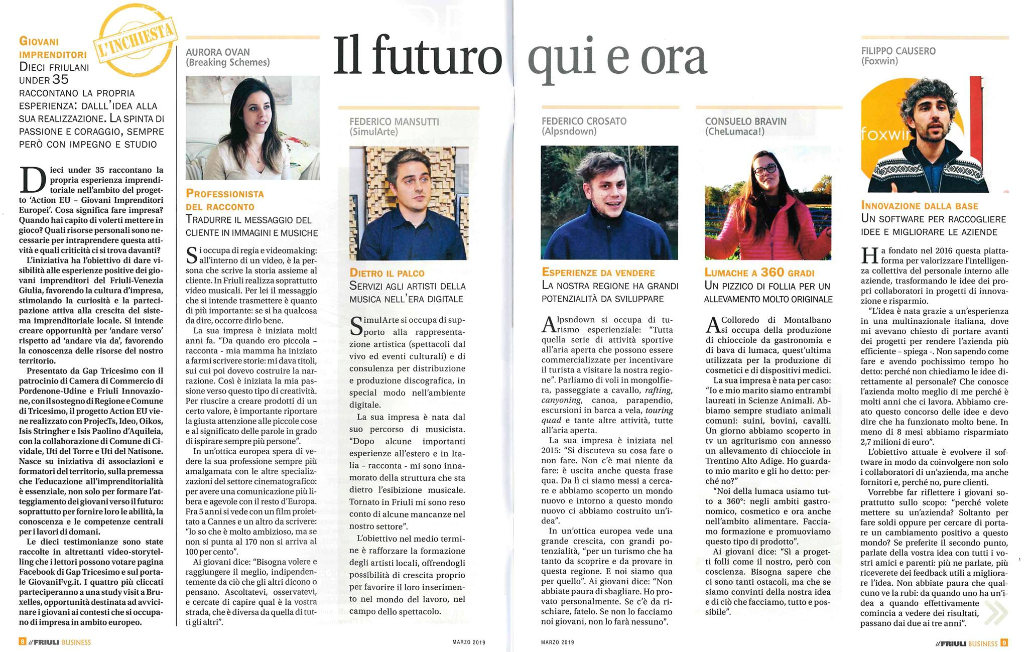 Il Friuli Business  - ActionEU Project