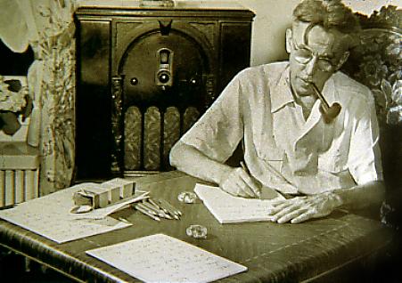 Thurber at Desk