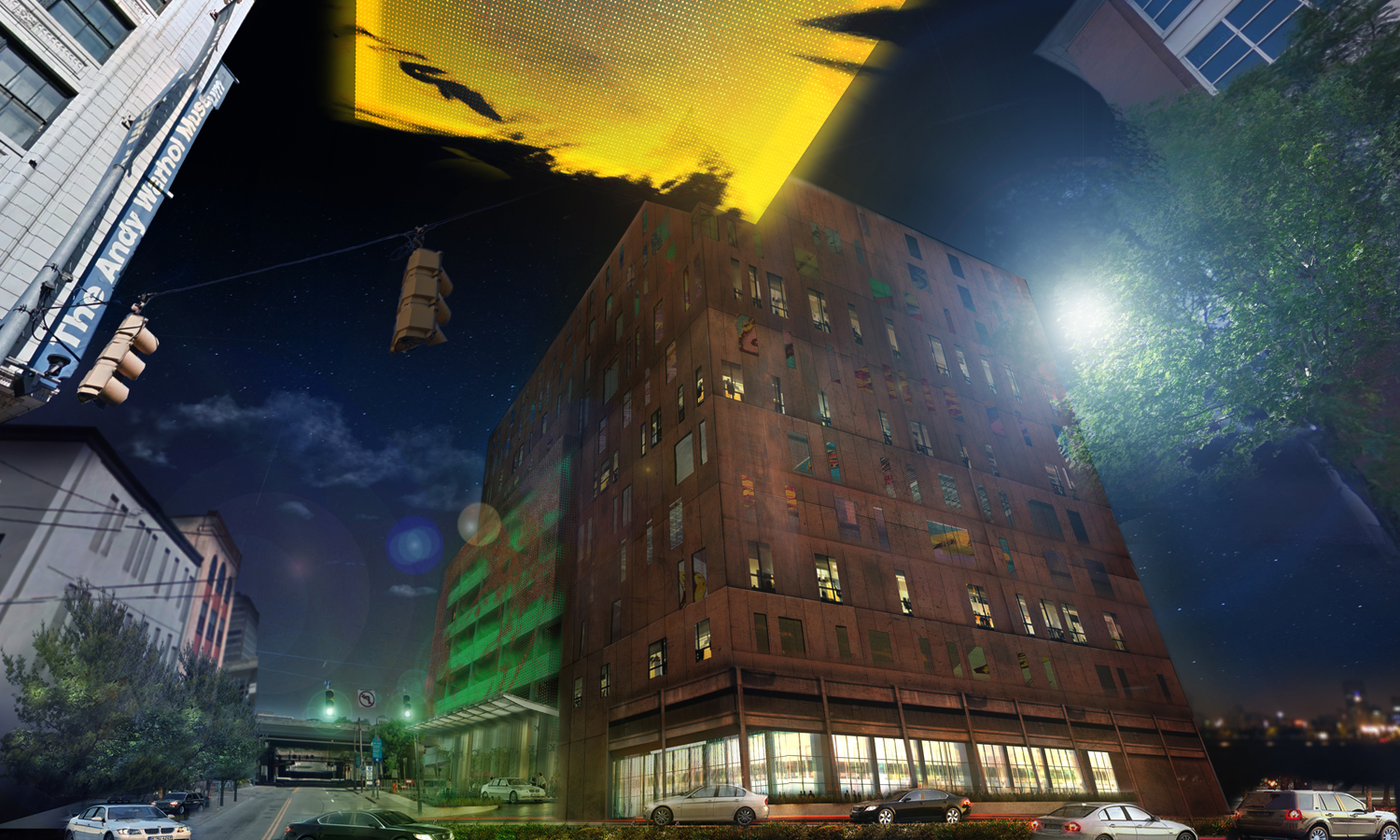 concept rendering for Warhol Museum Hotel