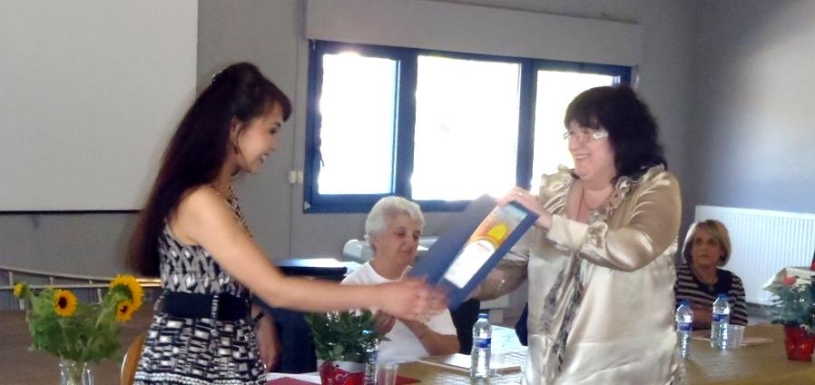 Agila Sauran, - auteur de livres jeunesse, est venue du Kazakhstan pour recevoir le prix littéraire.