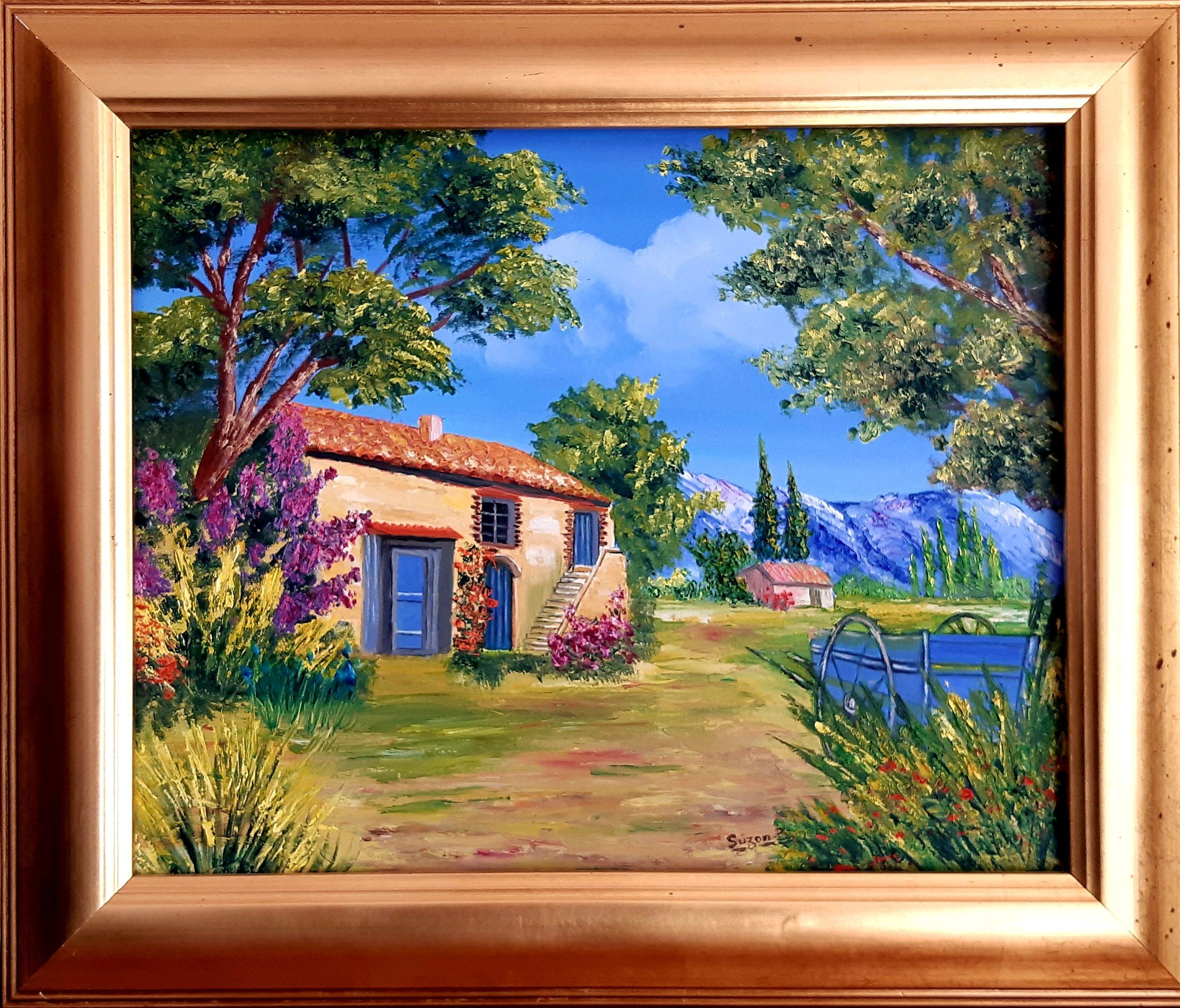 Expositionau Domaine du Pey Blanc - Du 1er au 30 septembre 2018:Exposition de la grande collection de tableaux de paysages, peints à l'huile sur toile, par Suzanne Besnier, artiste peintre française vivant en Provence.