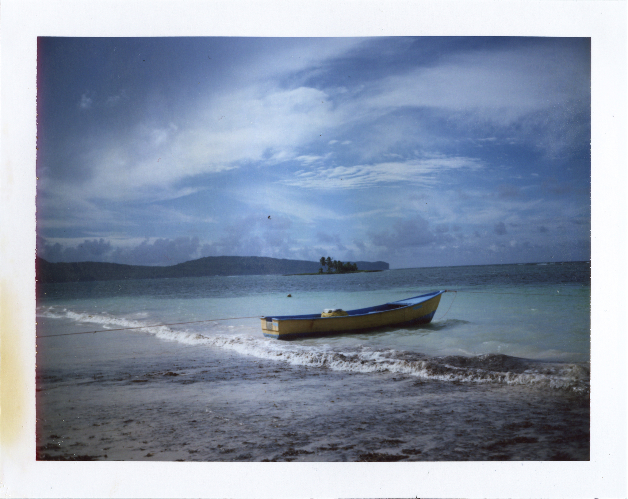 The beaches of Samaná, Dominican Republic.   Polaroid Land 250 | Fujifilm FP-100C.
