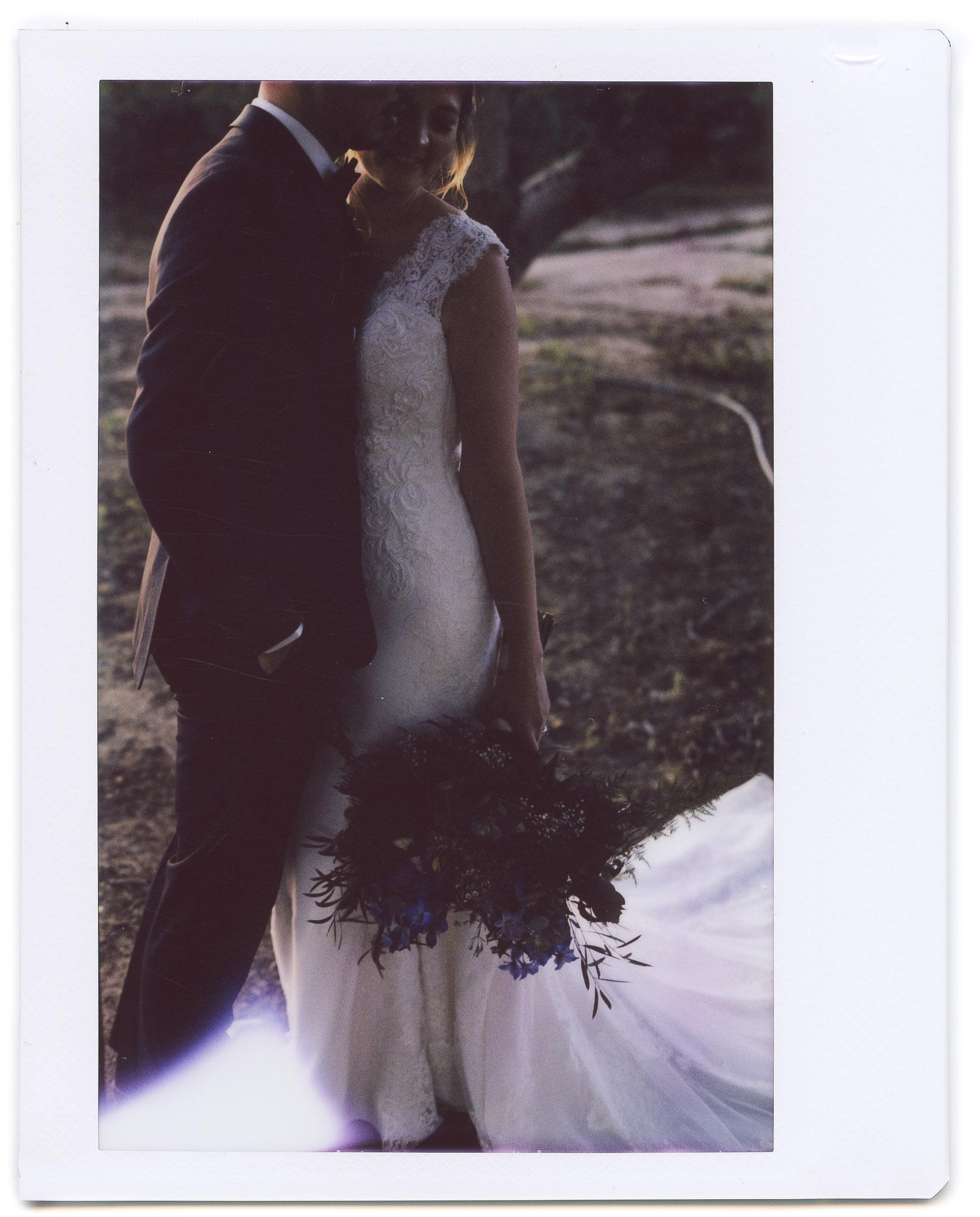 california wedding couple portrait instax