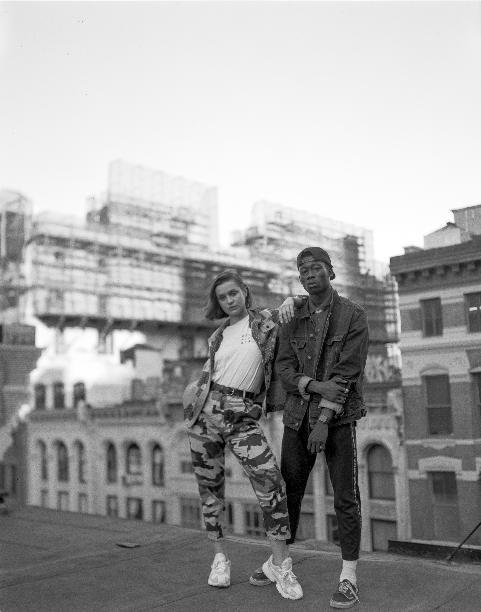 Misel 4x5 Fashion shoot SoHo rooftop