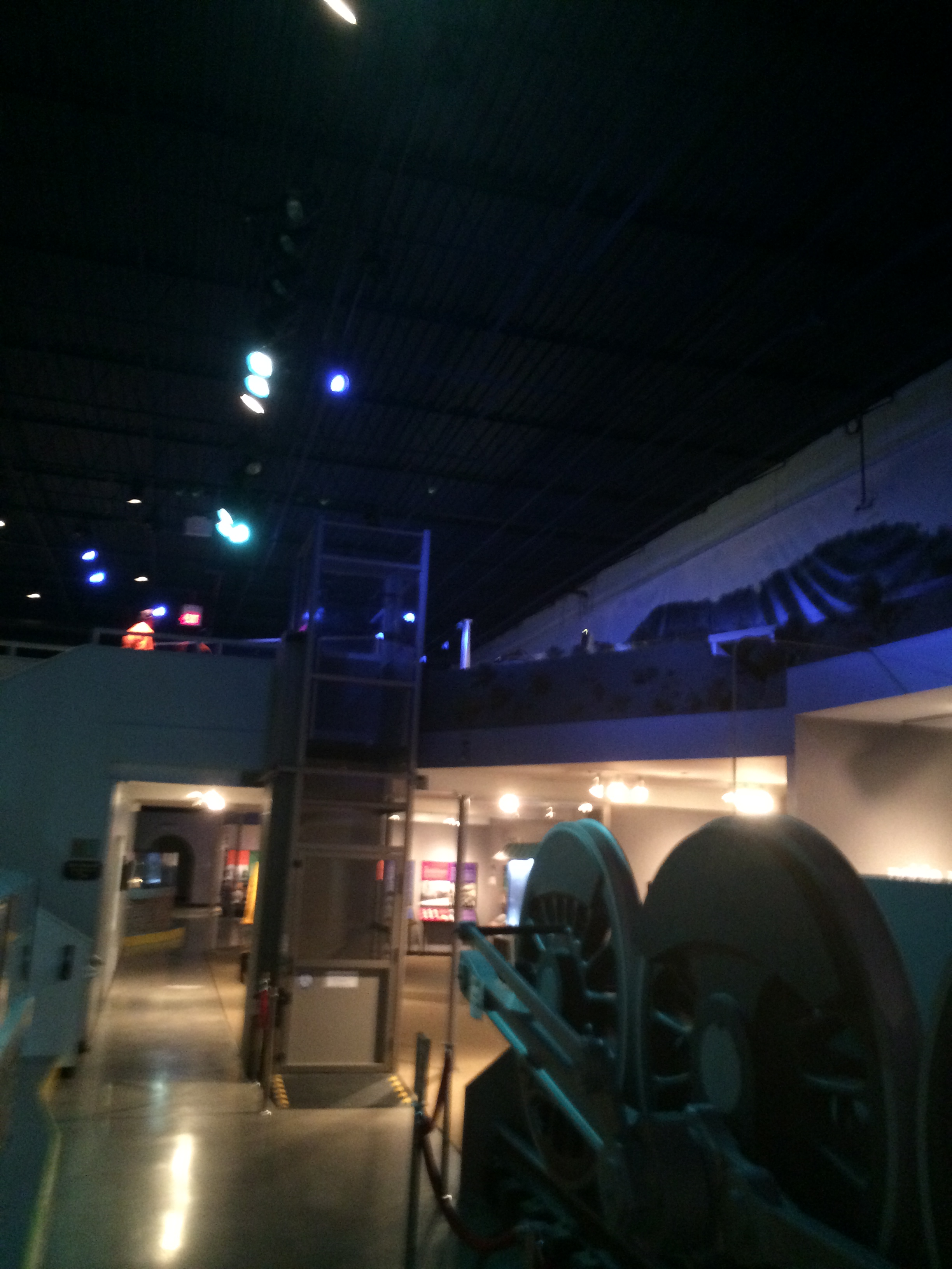 Not the best picture, however, you can see the Coney Island exhibit is on a specially built second level over the American Railroad Museum part of Entertrainment Junction.