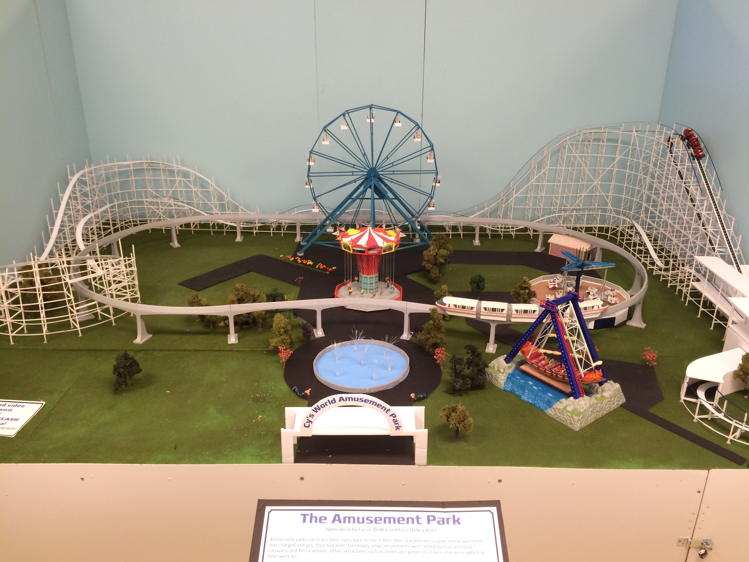 Exhibit: The Amusement Park (Cy's World) - The revised model of Cy's World.