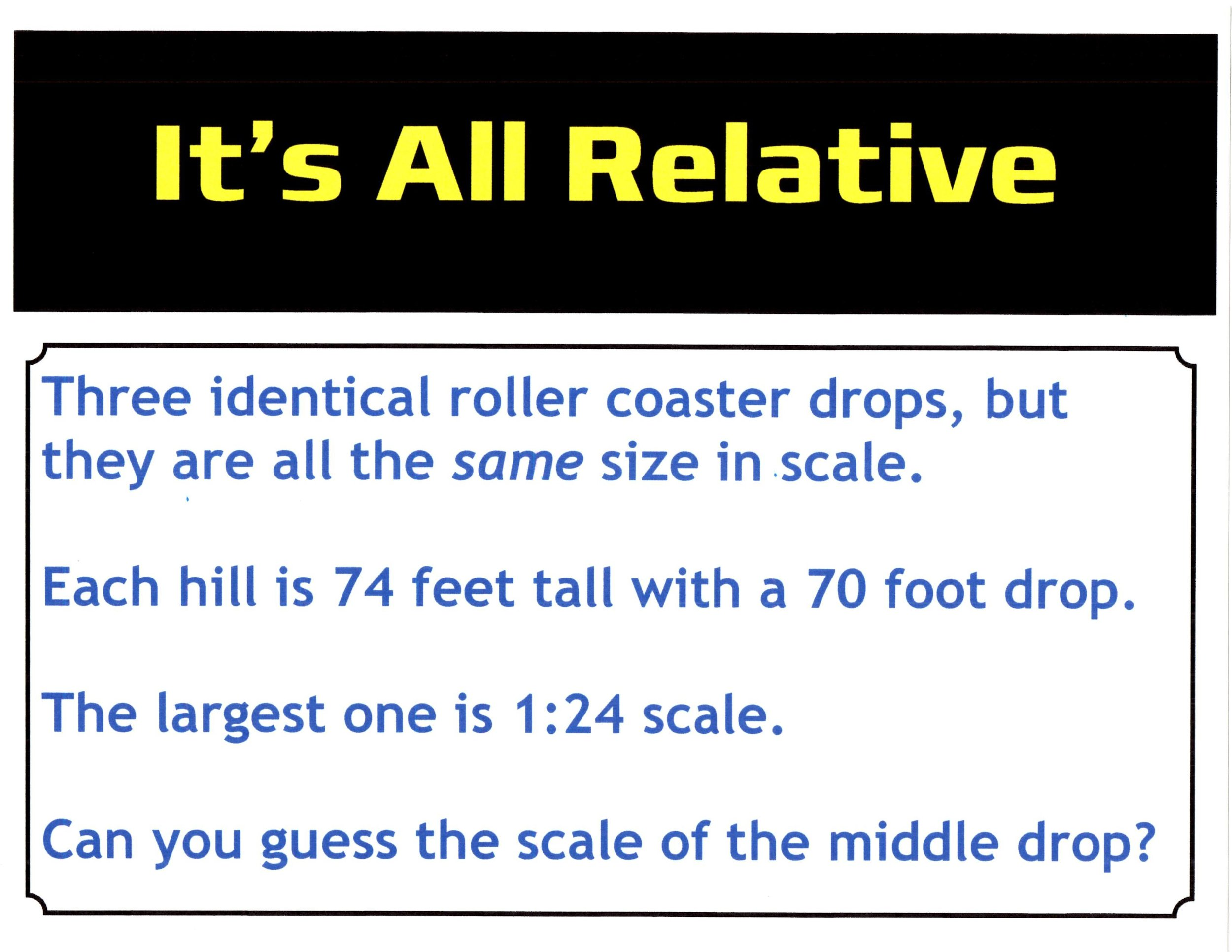 Exhibit: Scale: It's All Relative