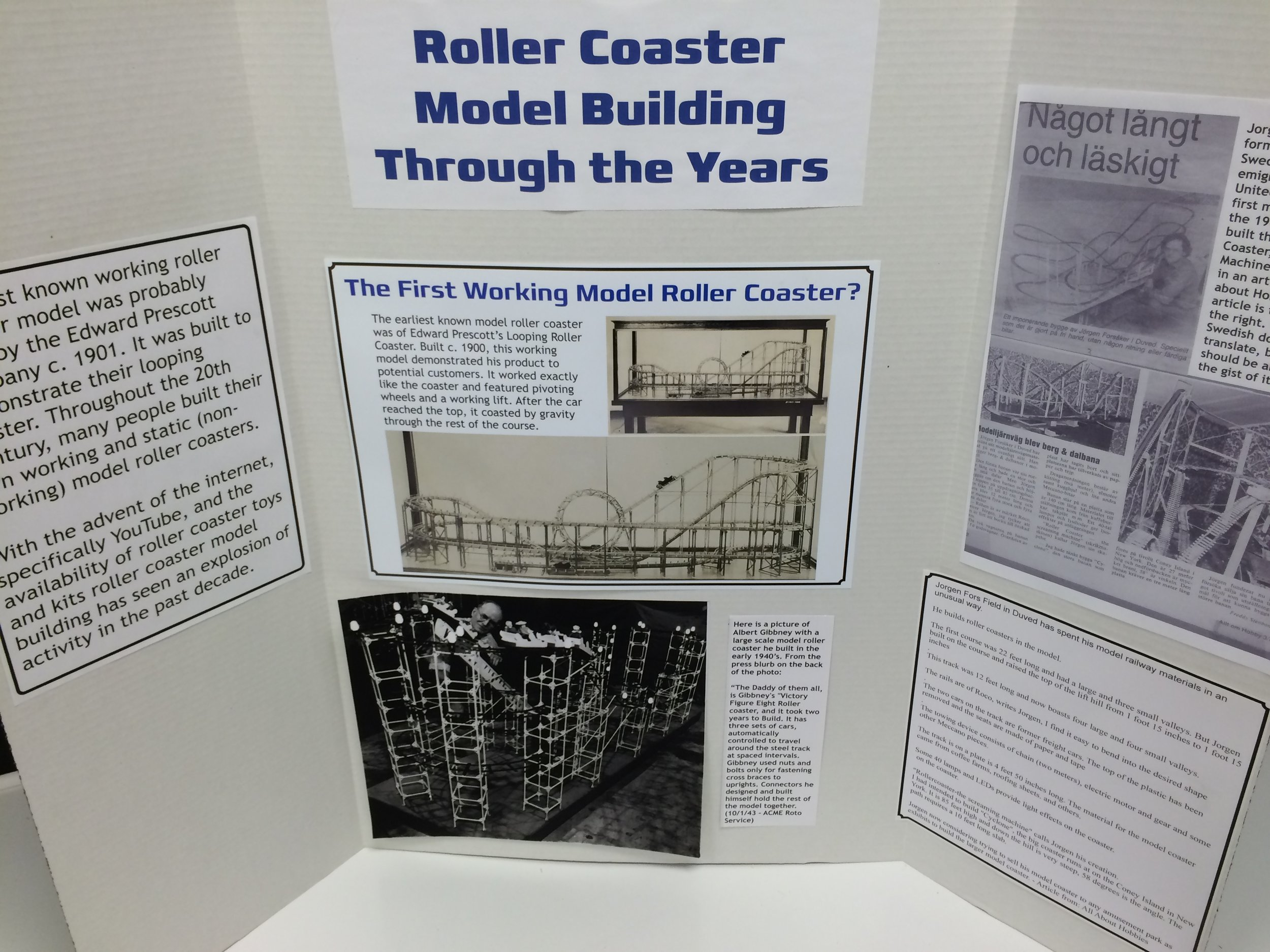 Exhibit: Model Coaster Building Through the Years