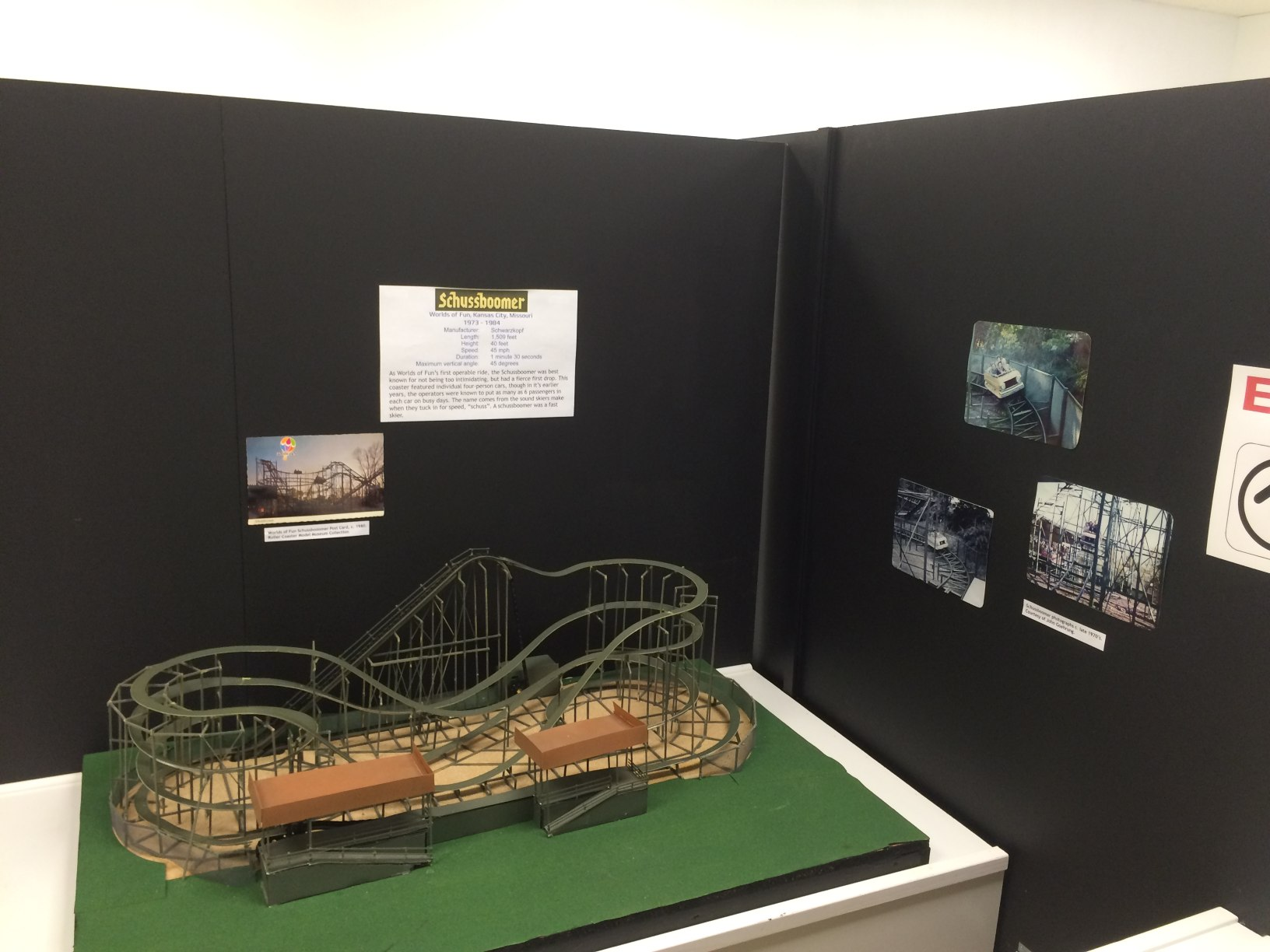 Exhibit: Schussboomer Model Roller Coaster (Worlds of Fun)