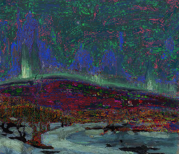 northern lights by tom thomson