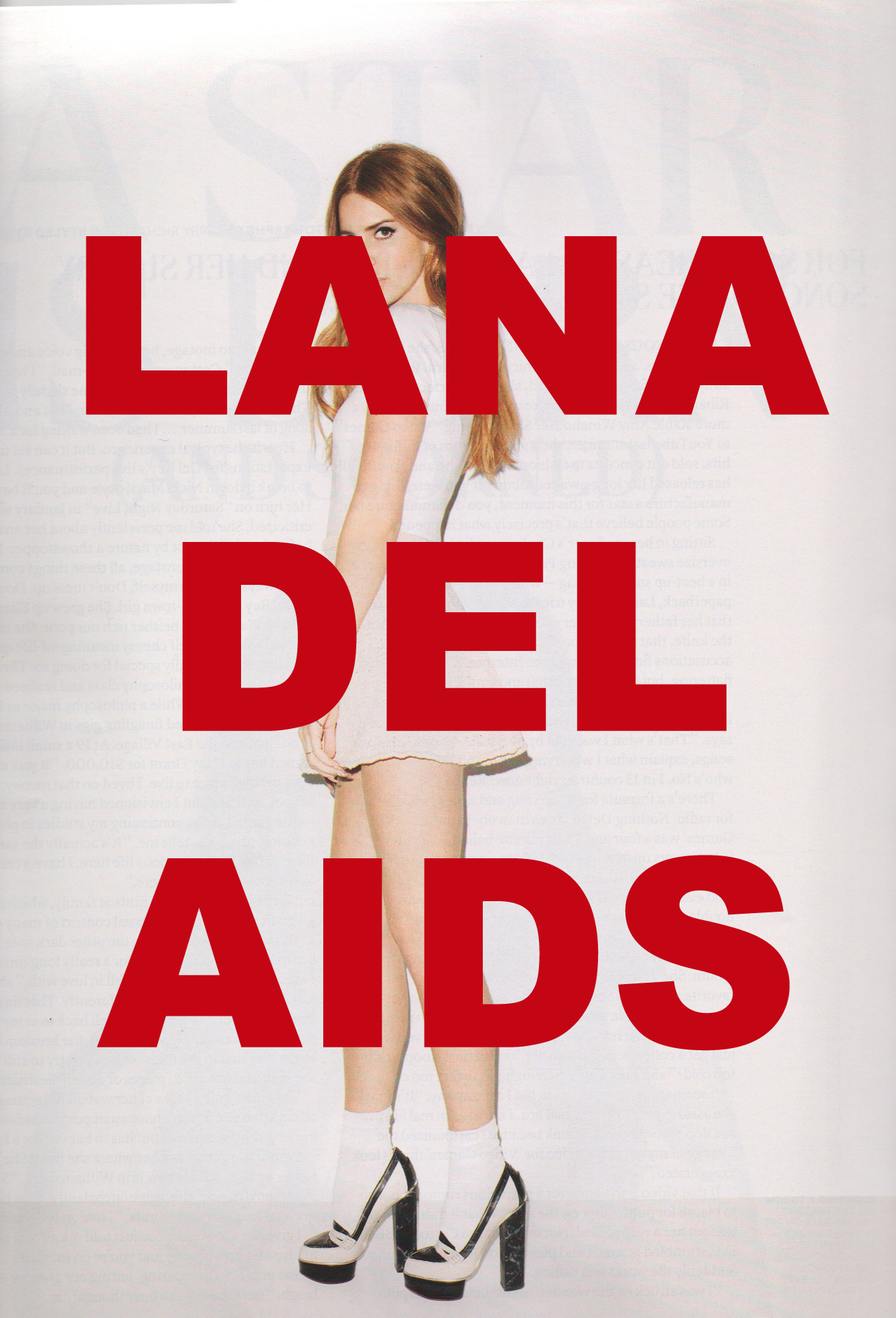LANA DEL AIDS, postcard series (2010 - ongoing)