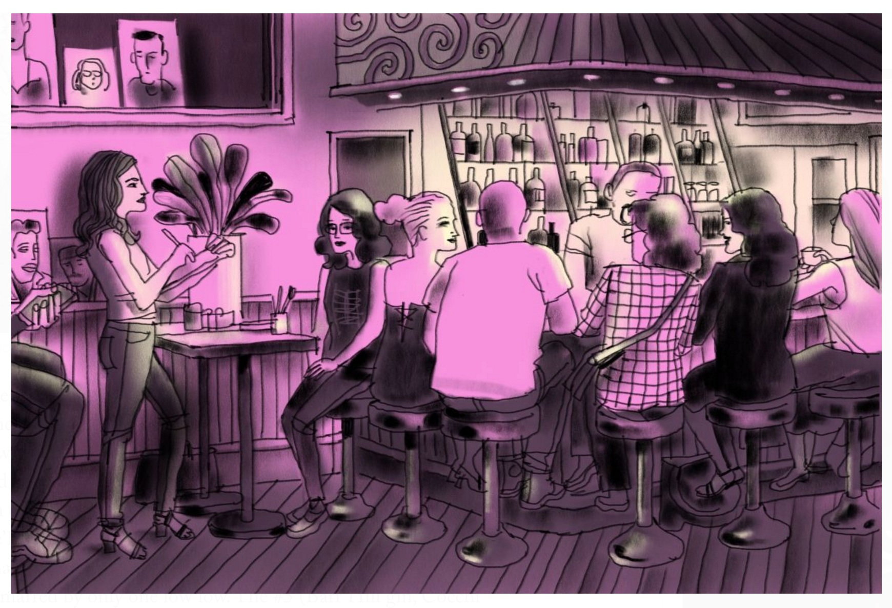 I was captured doing portraits at King Tai in  The New Yorker  by illustrator  Jorge Columbo  and can die happy.