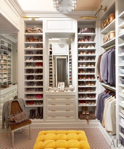 We love a pop of color in a bright closet!