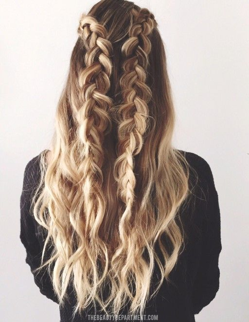 Technically these are the 'START' braids, but we love this look as another style too! But scroll to see what you can do with these two simple braids!