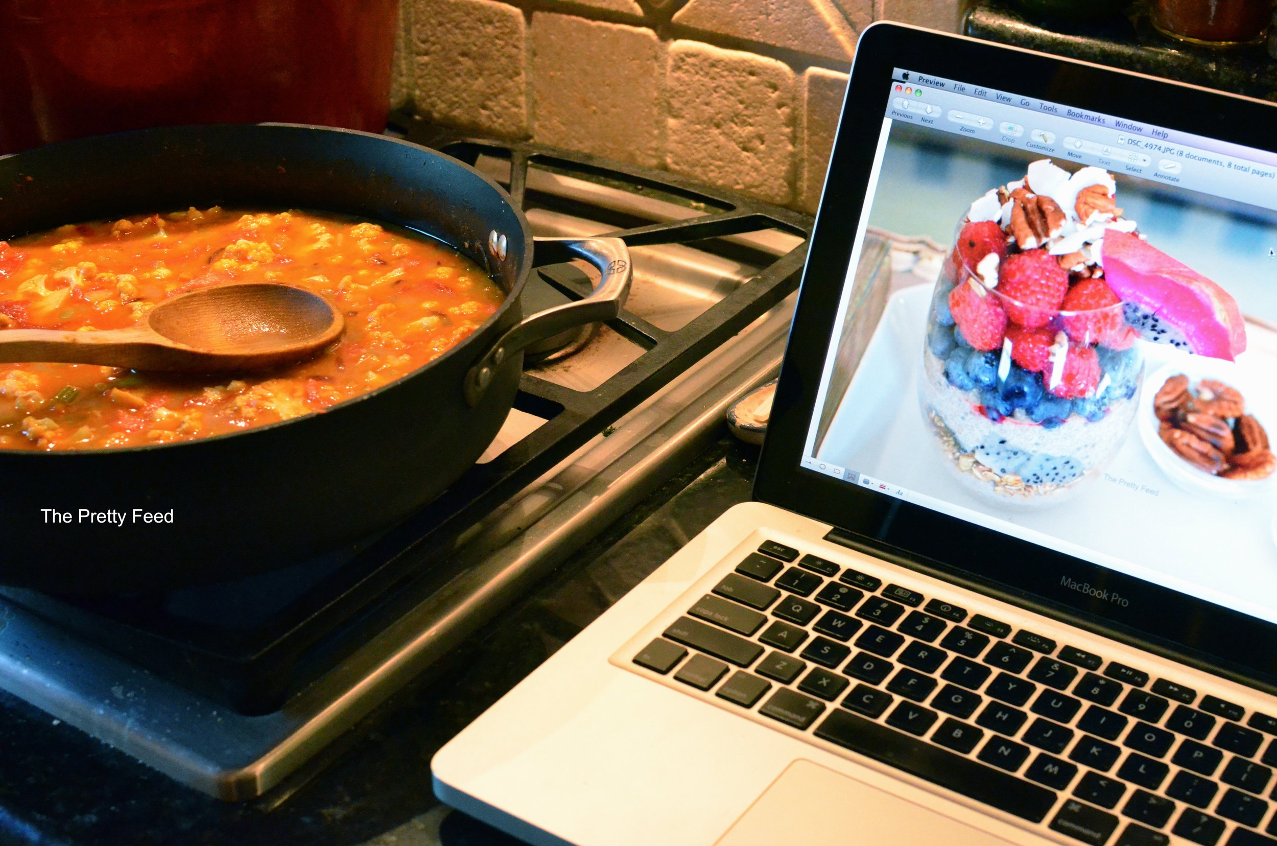 Working on a recipe coming soon while we cook!