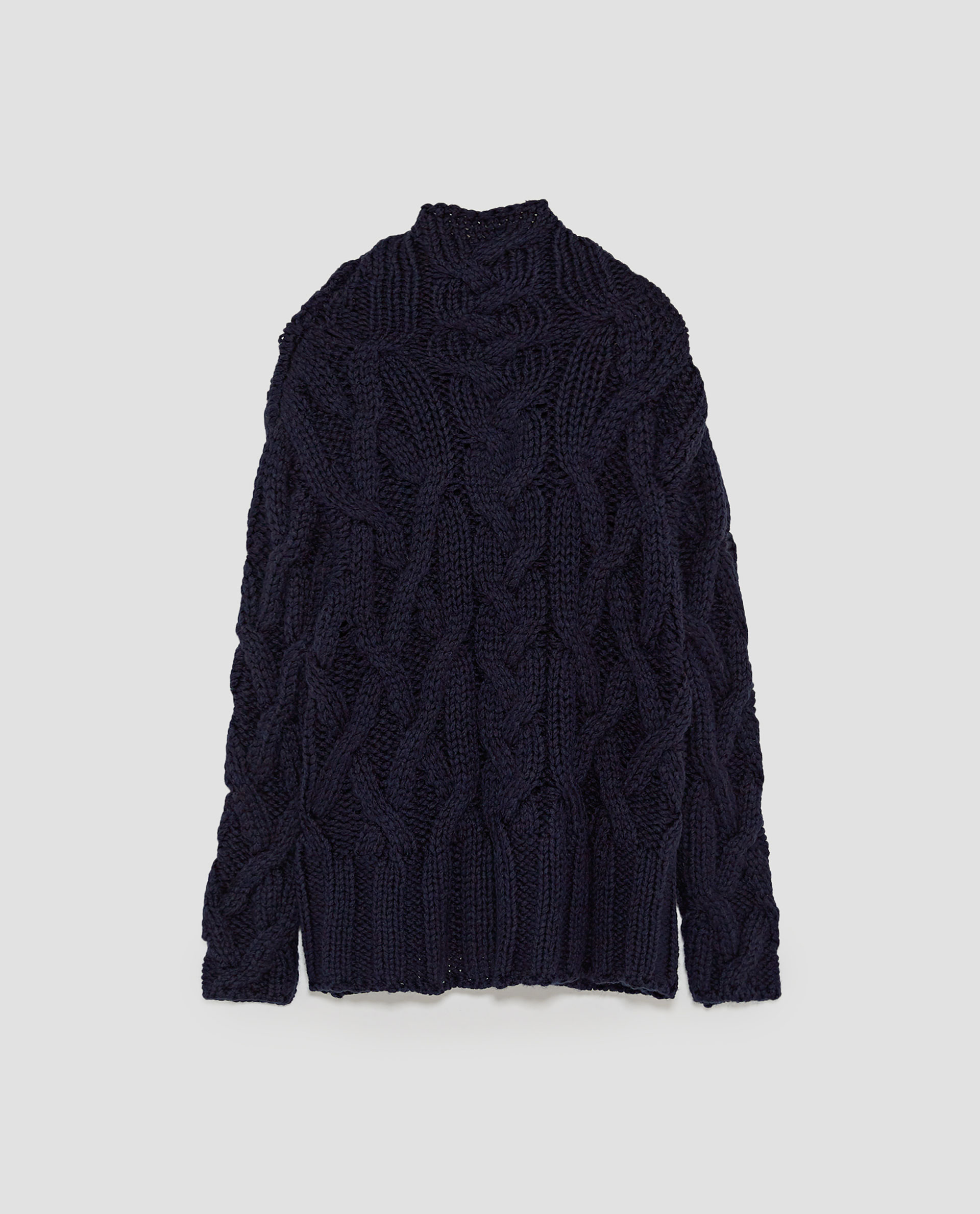 OVERSIZED CABLE-KNIT SWEATER - 59.50 CAD