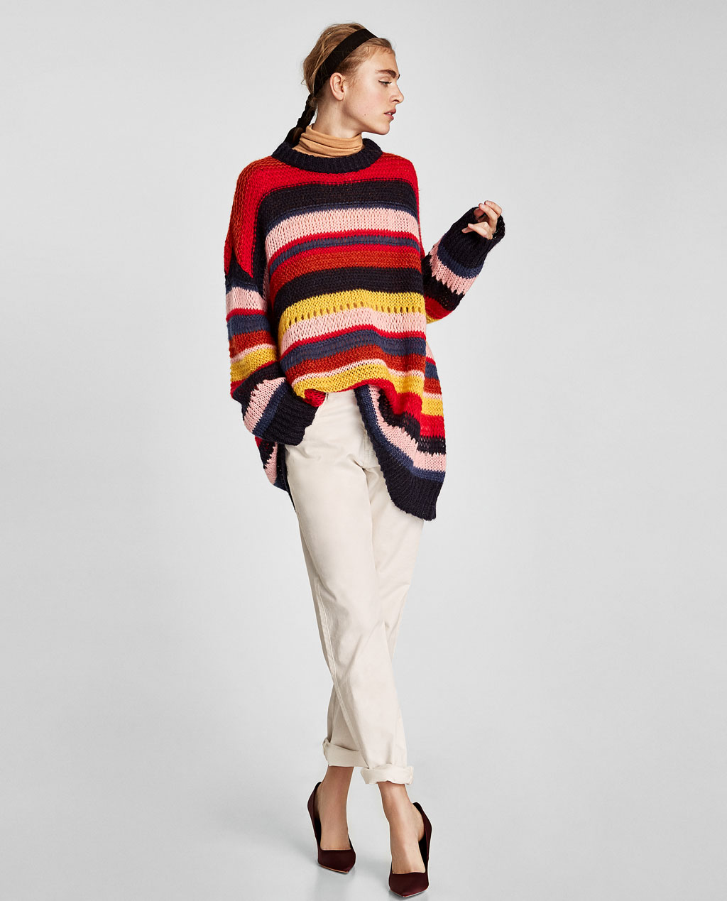 MULTICOLORED STRIPED SWEATER - 65.90 CAD