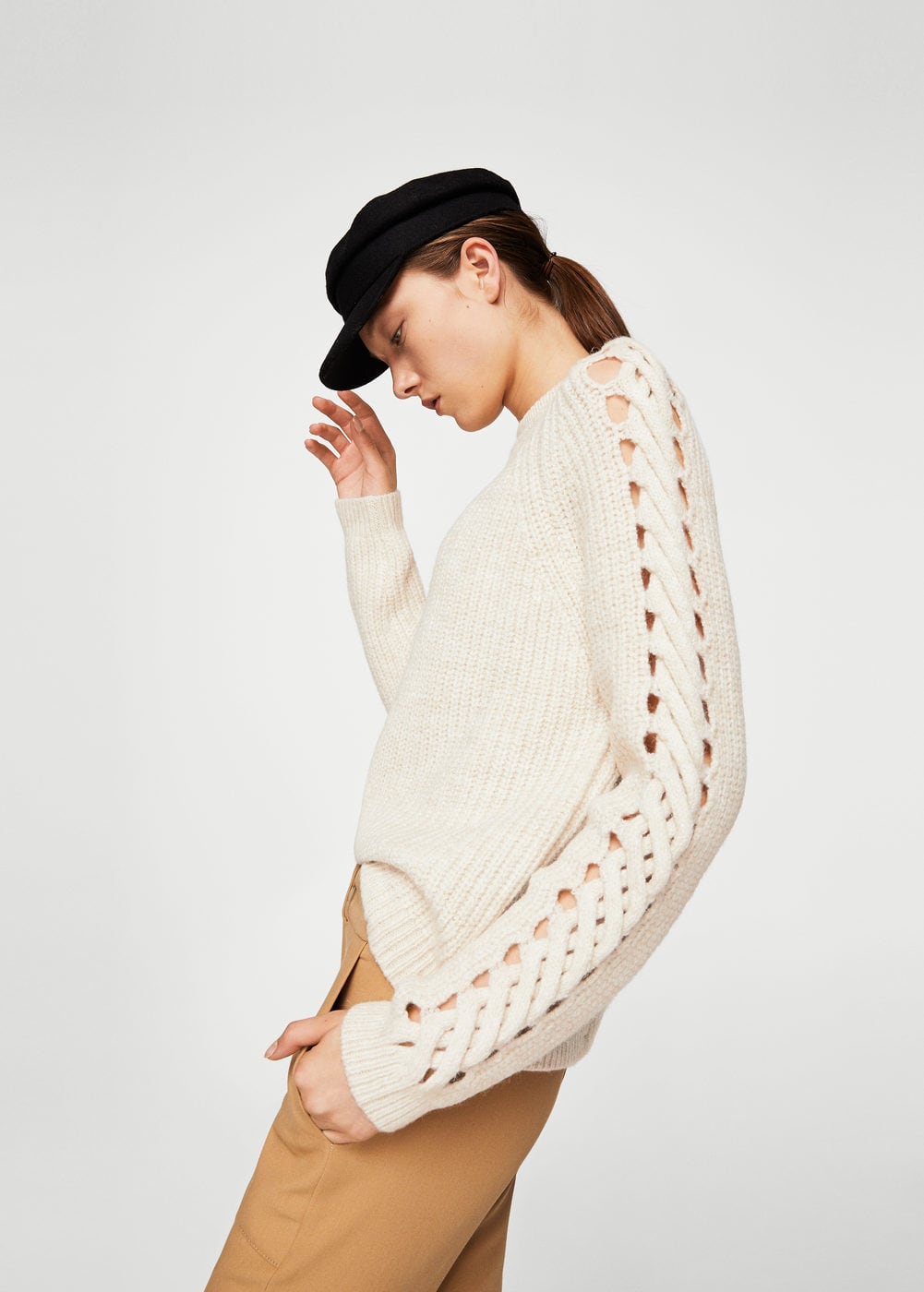 Open work-detail sweater - 89.90 CAD