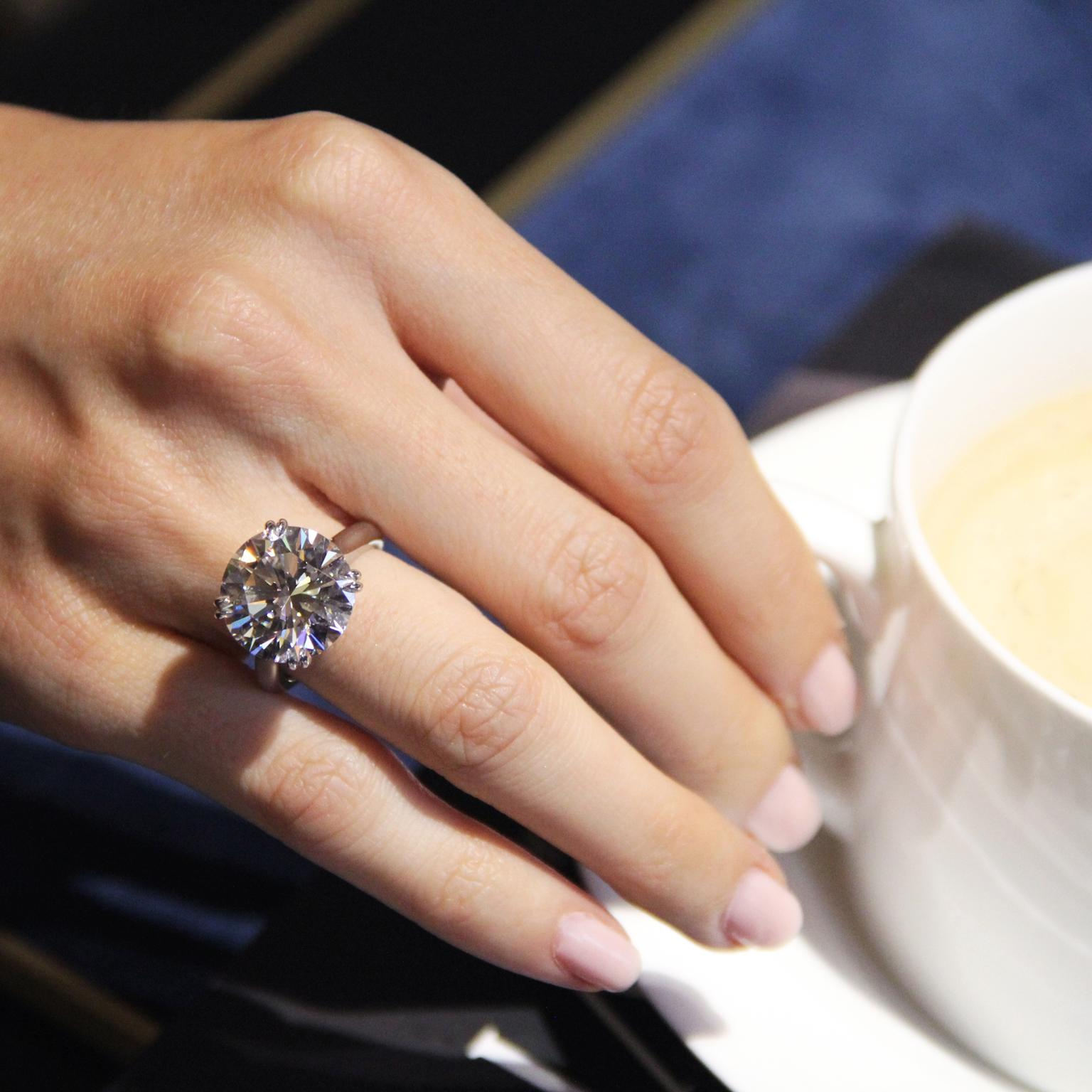 10.6 carrot diamond from Harry Winston  (read about it here)