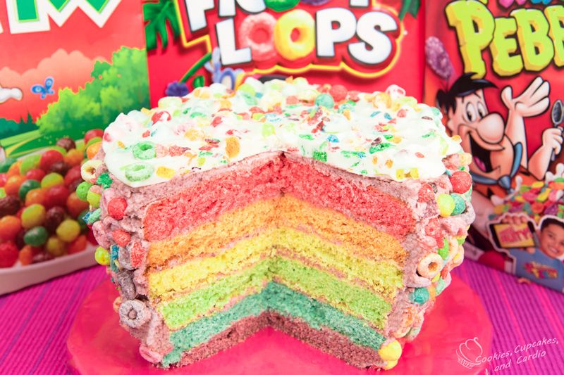 If it's for a kids birthday you could try making a layer cake with different colors!