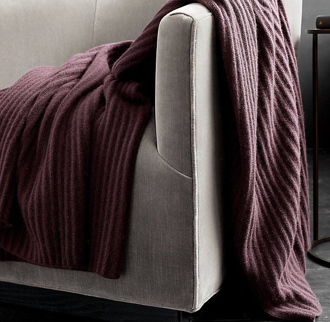 RH Ribbed Cashmere Throw - 550 CAD for members