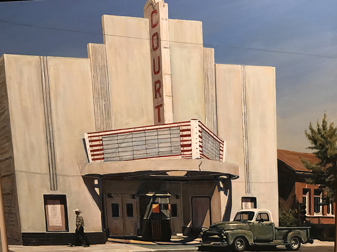 "Suong Yangchareon: ""Livingston, Calif.,"" 2015.  Acrylic on canvas.  Collection of Janet and Mark Hilbert. Currently on exhibition at the Hilbert Museum of California Art at Chapman University, Orange, Calif., through September 23, 2017."
