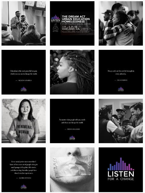 Listen for a Change Instagram Campaign 2