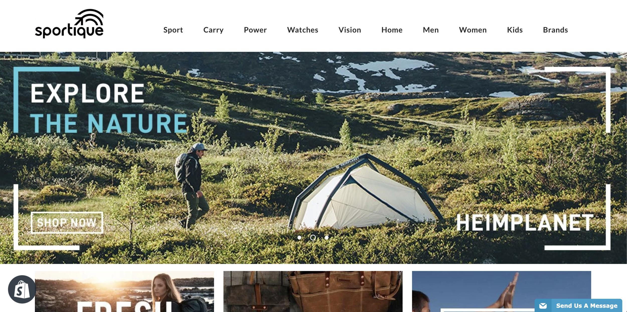 Sportique Homepage
