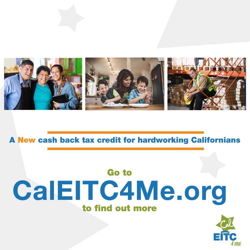 Click here for more information on Cal EITC for YOU!