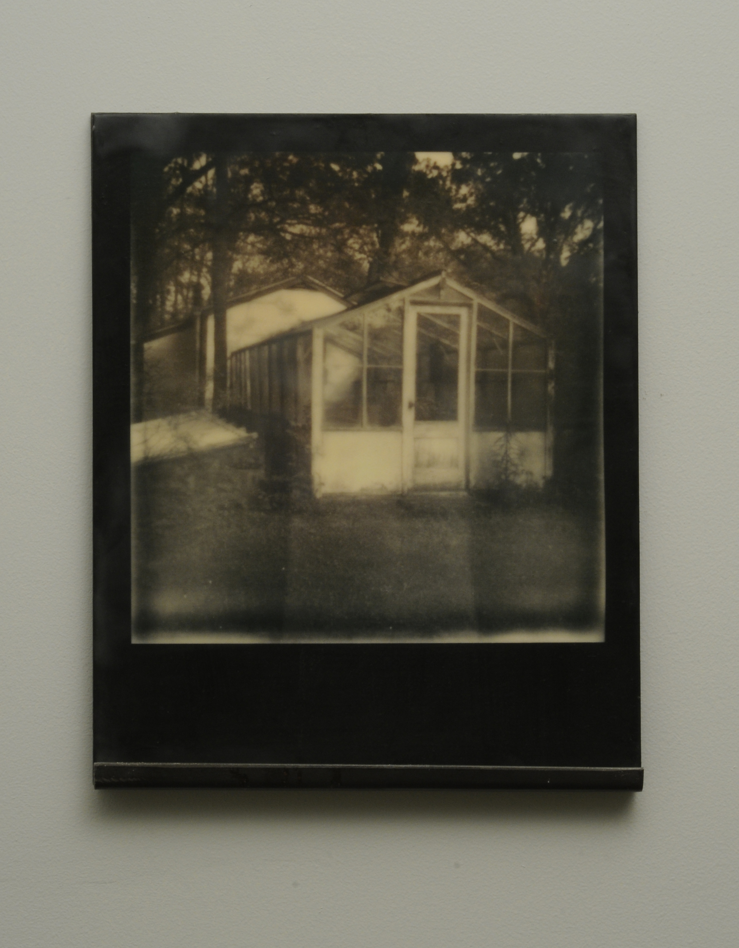 The Glass House  , 2015-2016, pigment print on panel with encaustic medium and steel shelf,  variable edition of 2 with 1 artist proof