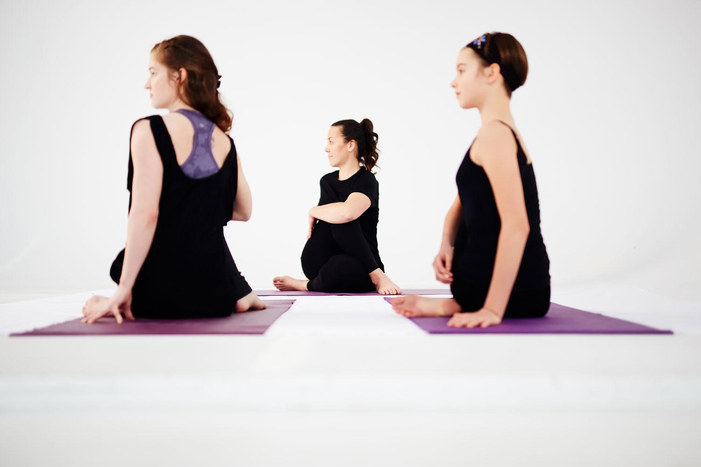Youth yoga class with Maria Ferraro