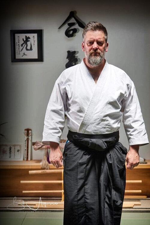 Sensei Larson studied under Sensei Morihiro Saito and received the highest weapons certification.