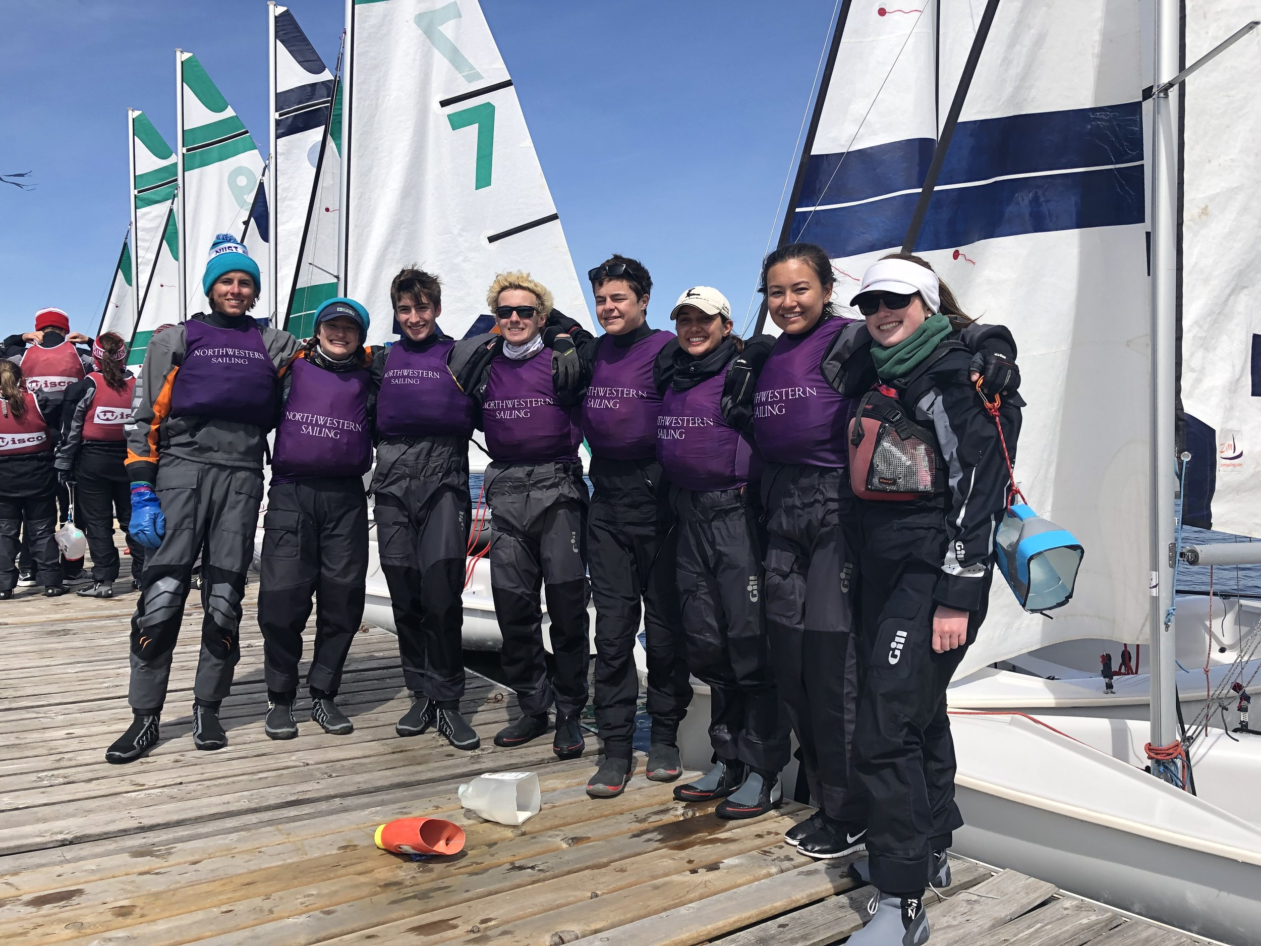 4/13-4/14 MCSA Team Race Qualifiers - Despite a weekend of great sailing, the team did not qualify for Team Race Nationals.