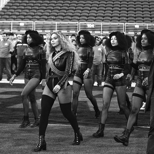 Beyonce Performs during Superbowl 50 Halftime Show