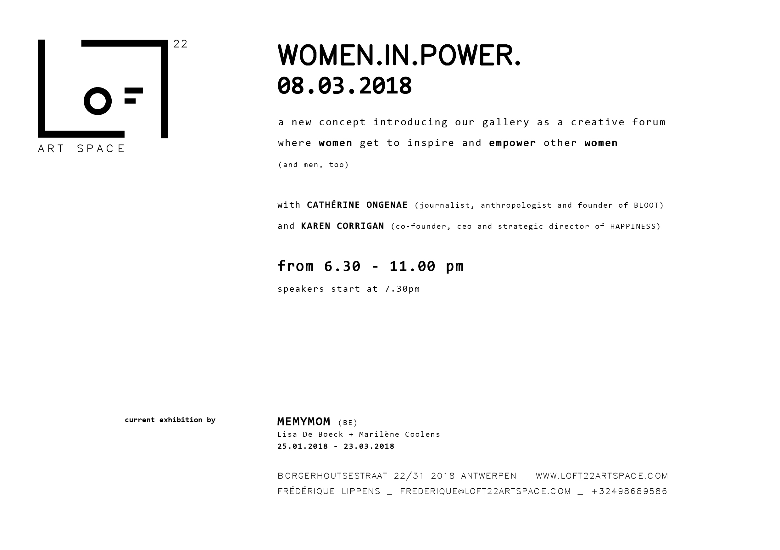 LOFT22 art space_invitation_WOMEN IN POWER 08.03_back_speakers.jpg