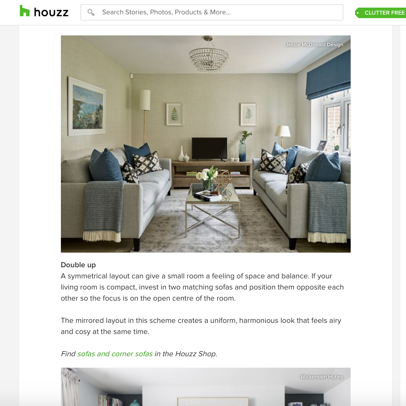 Featured on houzz - Click to read article online