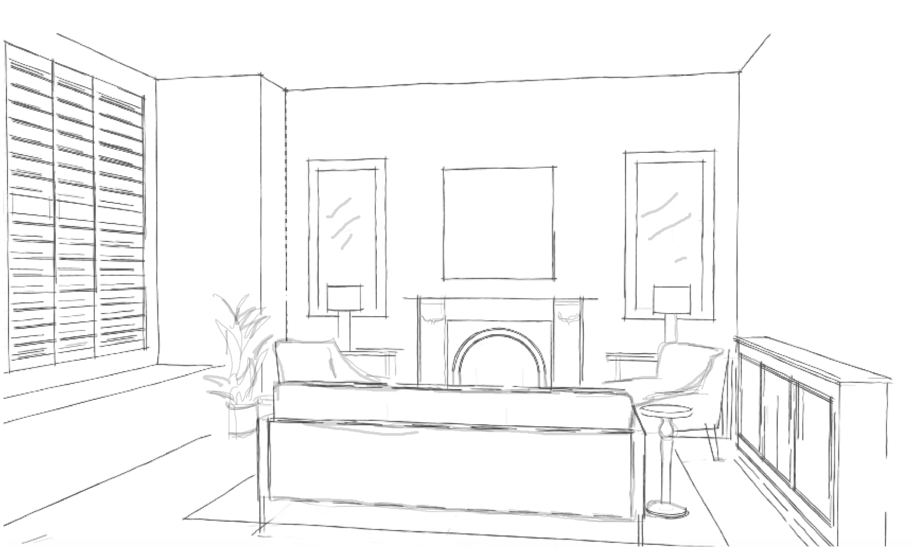 Simple sketch layout