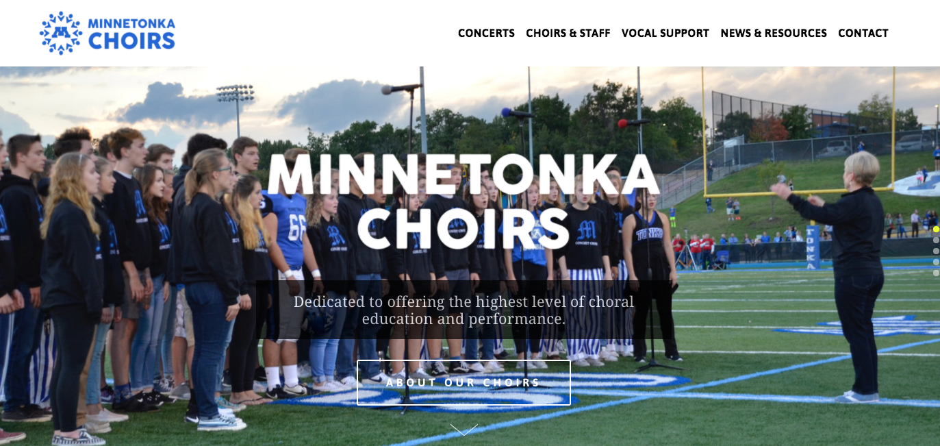 Affordable Small Business Websites Minnetonka Choirs