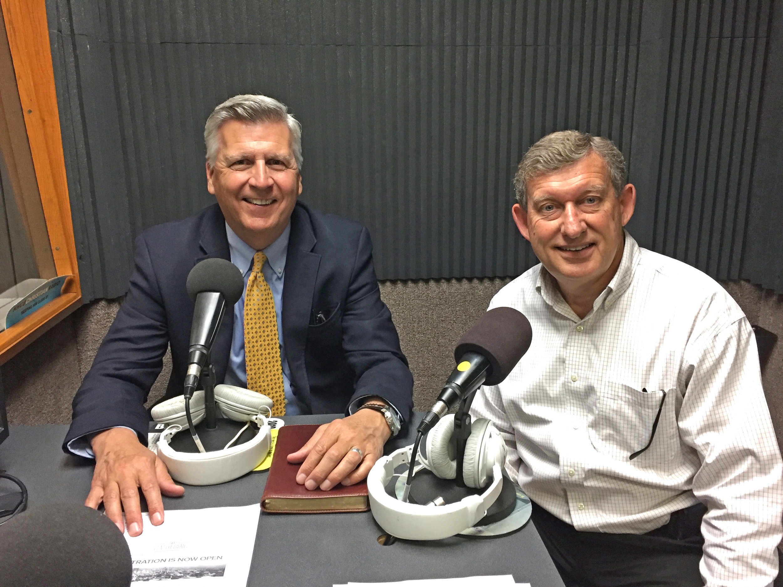 Chuck shares Crown's ministry with Bruce Munsterman of KHCB Radio Network in Houston.