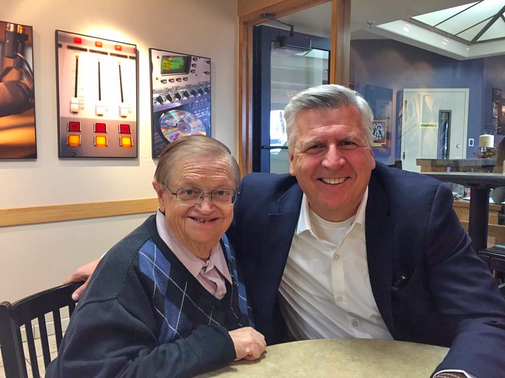 Chuck meeting with Mike Brinks at Family Life Radio in Tucson, AZ. Ten years ago, Mike attended a Crown Bible study, paid off more than $400,000 in debt and now takes Crown's ministry to train in Kazakhstan on frequent mission trips! What an IMPACT!