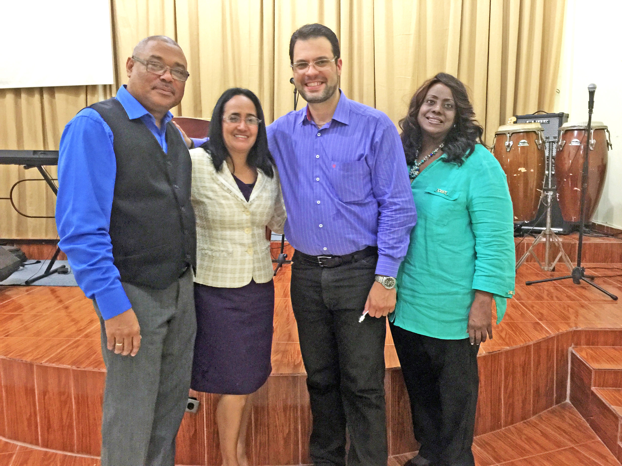 Frank Gonzalez, second from the right, is working with other ministry leaders across Latin America to make Crown materials more accessible for Spanish speakers.