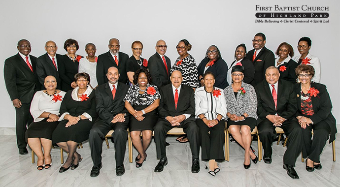 Members of the First Baptist Church of Highland Park, MD