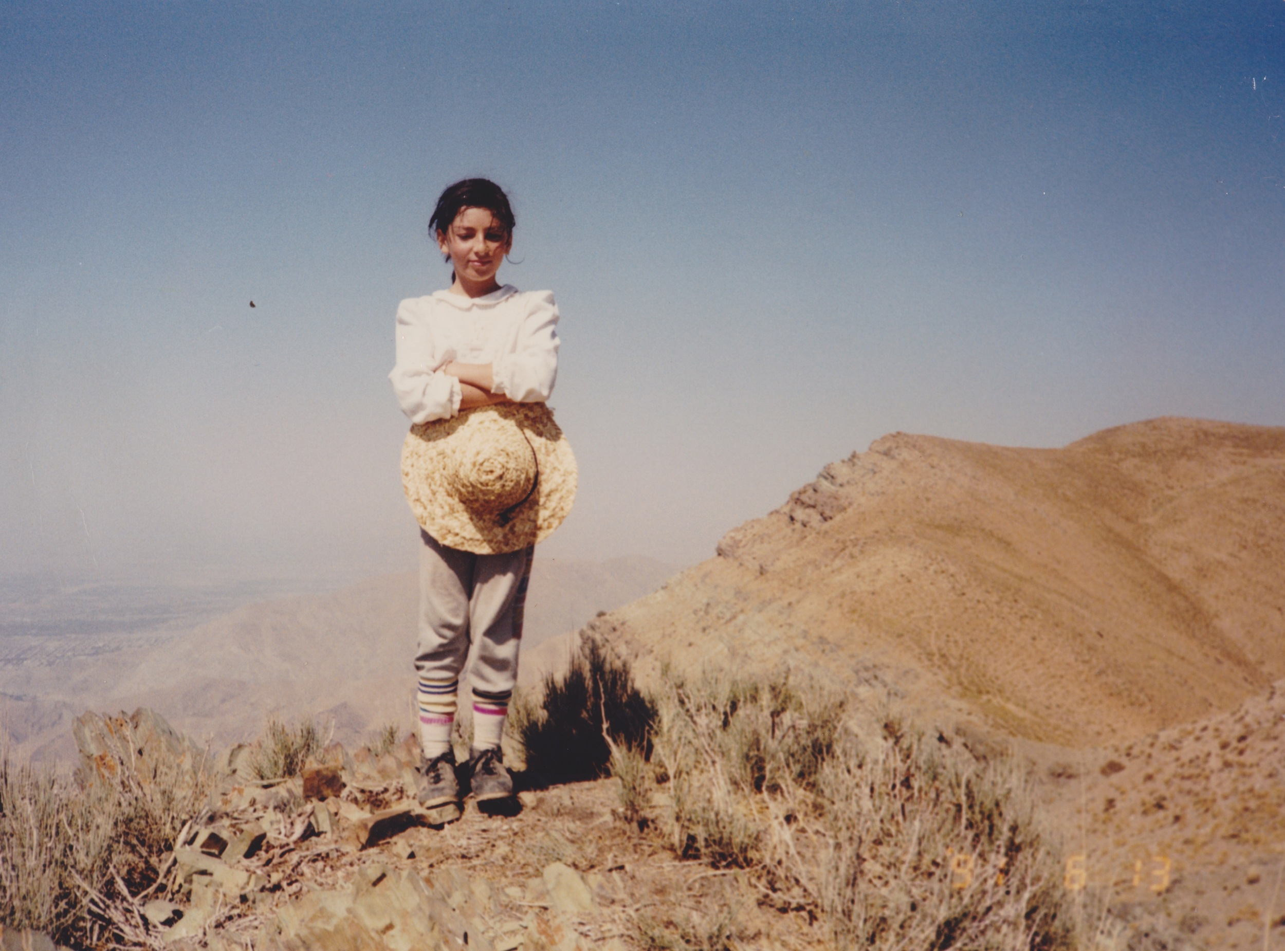 Aged 8 on top of Azimiyeh