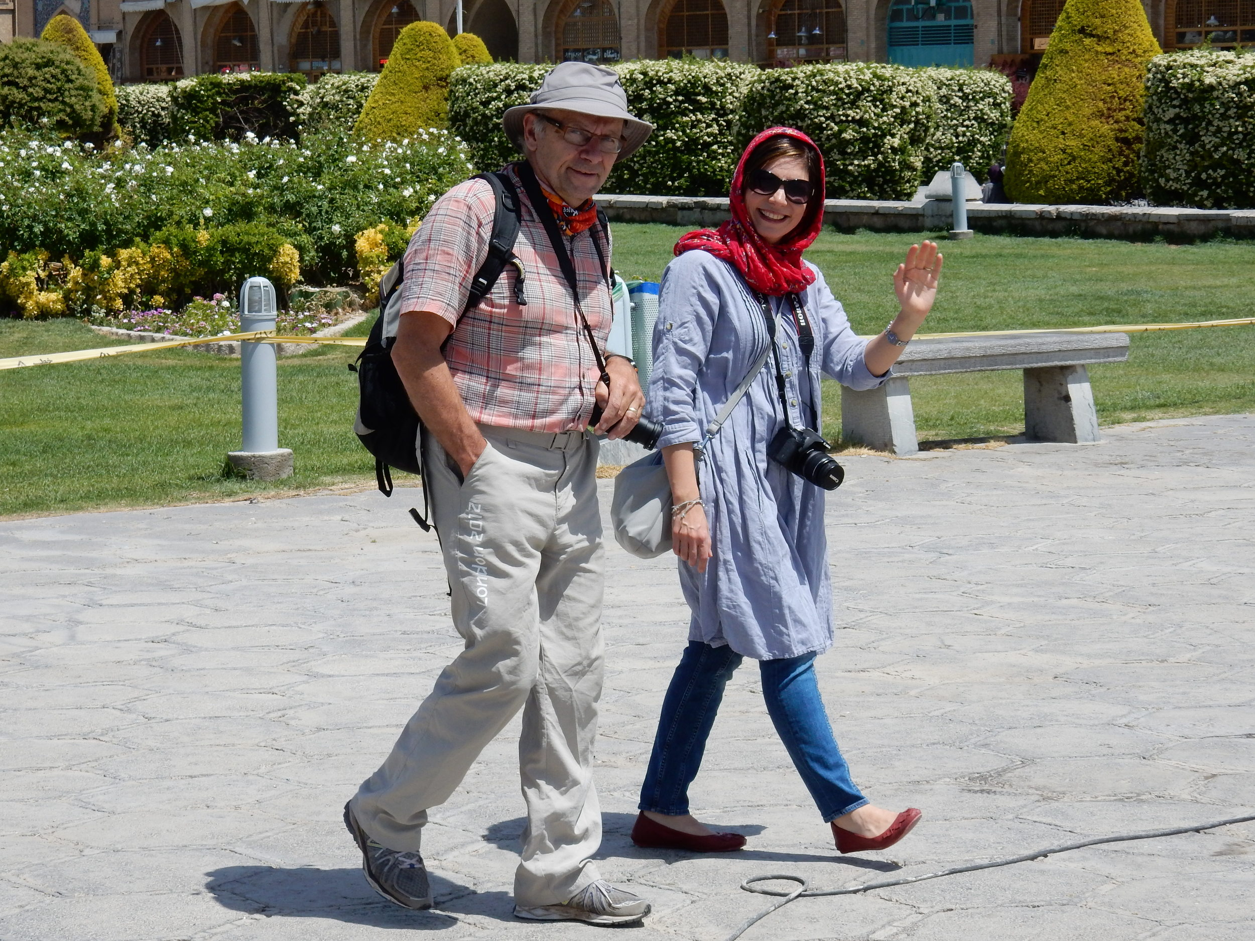 Ron and Shirin at Nahghsh-e Jahan square - Isfahan