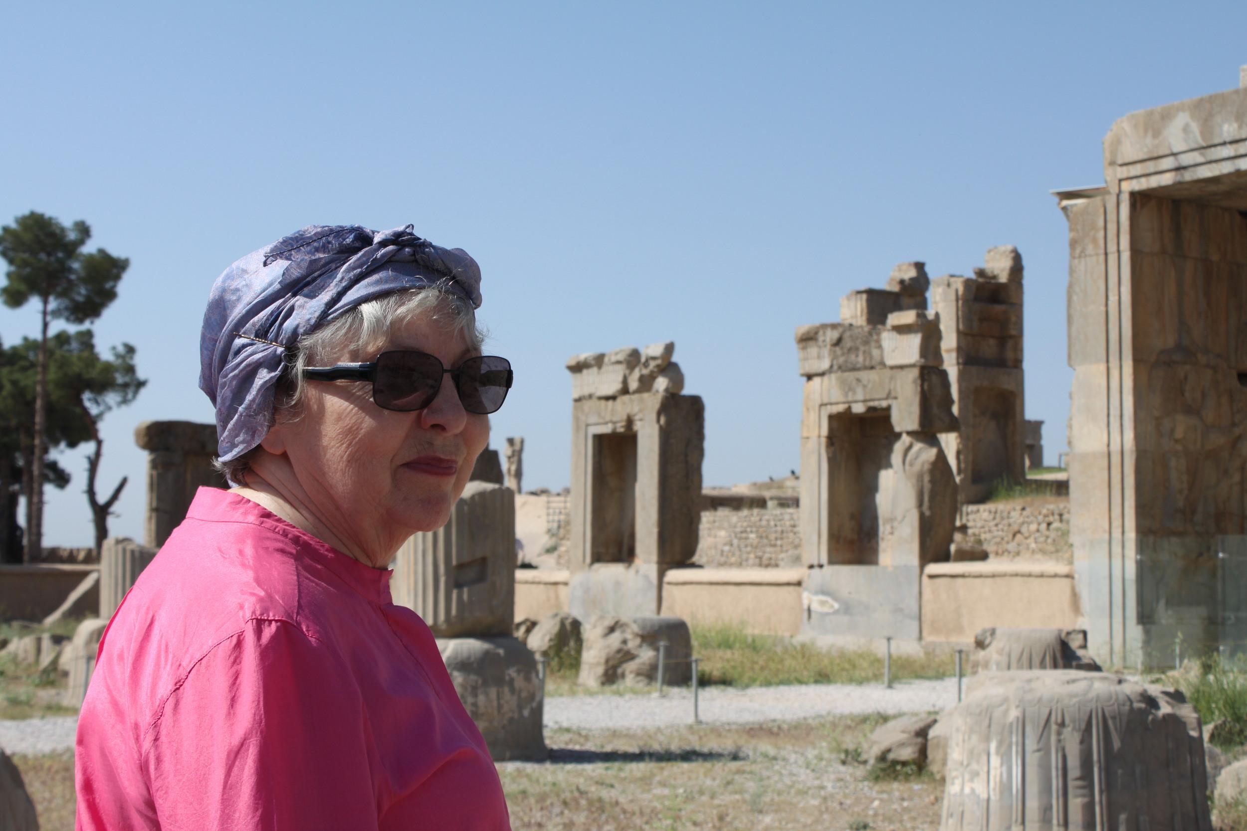 Mrs. Mecklenbrauker at Persopolis