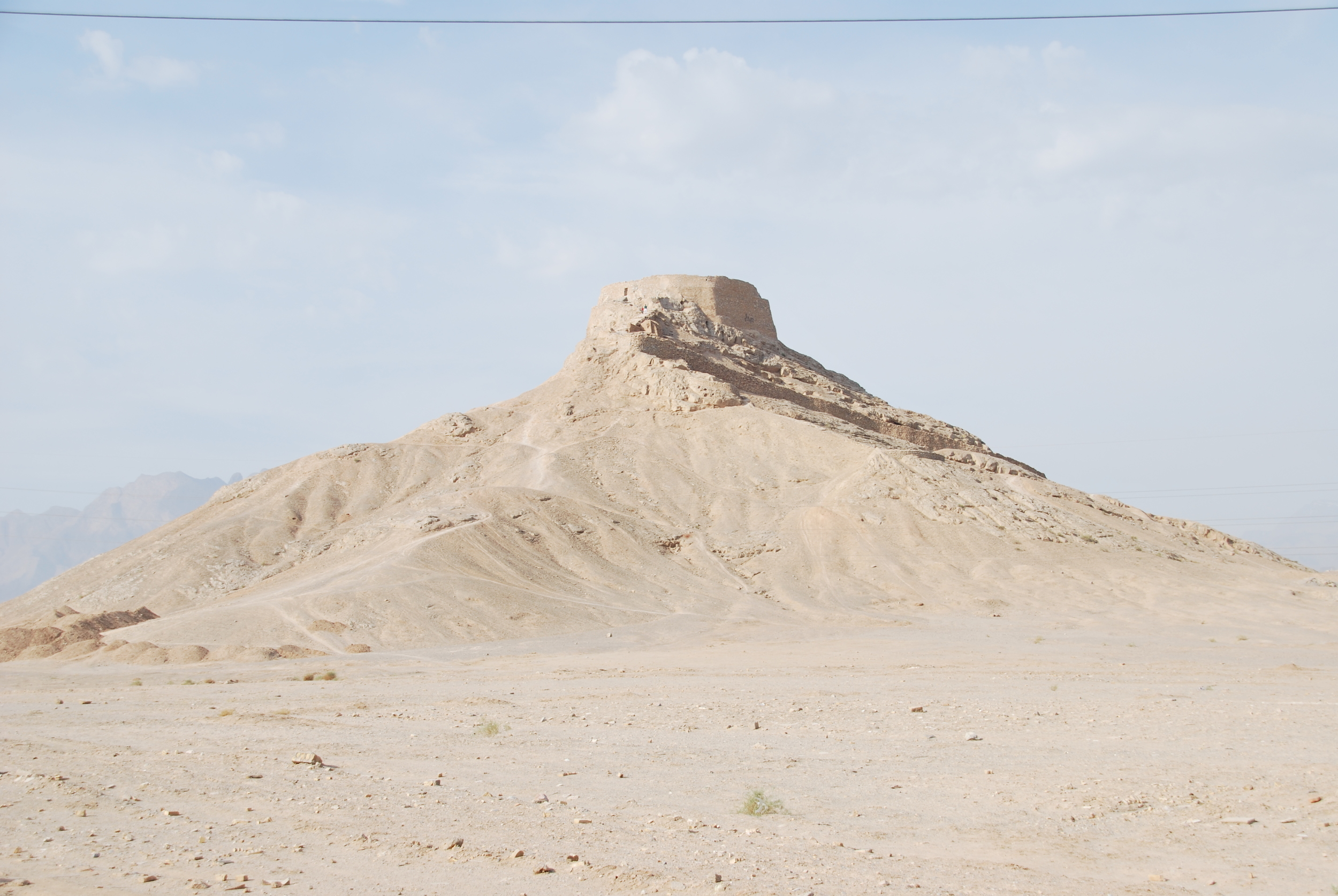 Dakhme - Tower of Silence in Yazd where Zaroastrians left their dead
